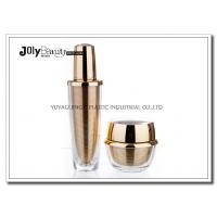 China 60 ML Capacity Plastic Lotion Jars With Bottle Inside Gold Plating Outside Transparent wholesale