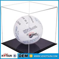 China acrylic football boot display case, clear acrylic baseball hat display case, plexiglass acrylic rectangle box wholesale