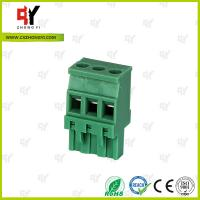 China Plug Type Connector Terminal Block Wire Range 28 - 12 AWG , Plug in Terminal Block wholesale
