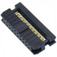 China WCON 2.54mm 2*10P Idc Socket PBT Black Connector Terminal One Side Contact wholesale