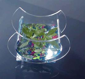 China Crescent Shape Custom Acrylic Fish Tank For Aquatic Plants wholesale