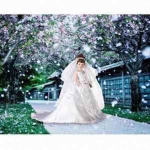 China Hot sale porcelain bride wedding dolls wholesale