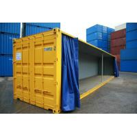 China 850gsm 1000d PVC Tarpaulin Side Curtain for Trailer , Glossy or Matte wholesale