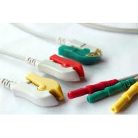 China Professional 3 Lead Ecg Cable , 5 Lead Ecg Cable TPU Cable Material wholesale