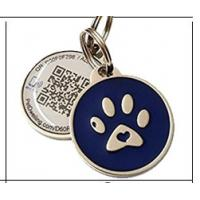 China Personalized Custom RFID Tags Metal Id QR Code Pet Tag For Dogs / Cats wholesale