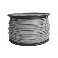 China PLA 3mm / 1.75mm Grey Color 3D Printer Filament Materials , 2.2lb / Spool wholesale