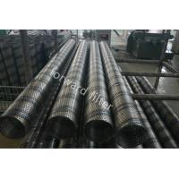 China Steel Sand Control Screens , Perforated Stainless Pipe With Round Slot And Square wholesale