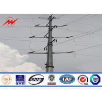 China 69kv Galvanized Steel Utility Power Poles For Power Transmission Line Project wholesale