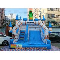 China Flame Resistant Giant Commercial Inflatable Slide / Inflatable Bouncers With Slide wholesale