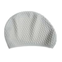 China Durable White Silicone Swim Caps Fashionable Style OEM / ODM Welcomed on sale