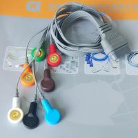 Quality DMS Holter ECG Cable , 7 Leads IEC Snap Electrode Lead Wires DB Pin Connector for sale