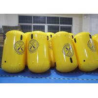 China Cylinder Shape Inflatable Marker Buoy , Advertising Lake Swim Area Buoys wholesale