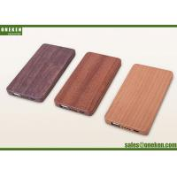China OEM 5000mAh Walnut Wooden Power Bank For Mobile Phone Rechargeable Charger wholesale