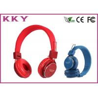 China Professional Red / Pink Cordless Stereo Headphones / Sports Headphones wholesale