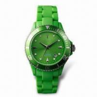 China Fashionable Quartz Wristwatch with Japanese Movement, Plastic Case, Customized Designs are Available wholesale