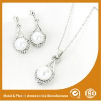 China 925 Sterling Silver Jewelry Set With Infinity Love Neckalce Rings And Earrings wholesale