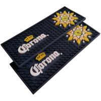 China Custom Soft Touch PVC Rubber Beer Rectangular Bar Mat Spill Mat Rail Drip Mat wholesale