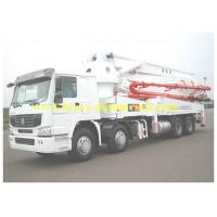China Howo Truck mounted Cement Pump 28m Boom 700L Hopper Capacity wholesale