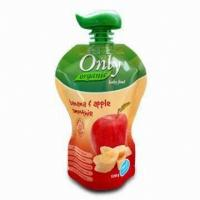 China Apple Juice Spout Pouch Packaging 50 Microns -200 Microns With CMYK Printing wholesale