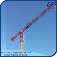 China Large 24t QTP8025 Electric Flat Top Tower Crane 80m Long Arm Cost wholesale