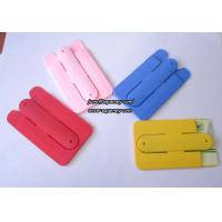 China Silicon slap band 3M stickers silicone phone stand card holders for any mobile phone wholesale