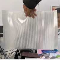 China OK3D factory manufacture 0.9mm 70LPI PET Lenticular Sheet for 3d lenticular printing by injekt print and UV offset print wholesale