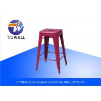 China Red Durable Professonal Stackable Outdoor Metal Tolix Cafe Barstool wholesale
