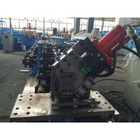 Adjustable C Channel High Speed Roll Forming Machine With Hydraulic Decoiler 2.0mm thickness