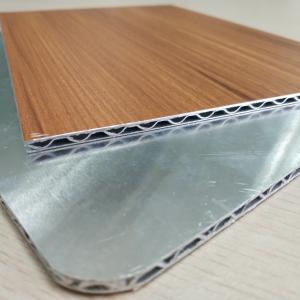 China Wooden Marble Series PVDF Aluminum Composite Panel , Aluminium Core Panel wholesale