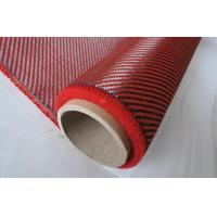 China DuPont Carbon Fiber Composite Materials 2X2 Twill Weave Red Aramid Fiber Fabric on sale
