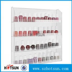 Quality Clear Acrylic Nail Polish Wall Display Rack, custiomized tier nail polish rack for sale