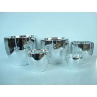 China Silver Electroplated Ceramic Flower Pots For Plants Indoor 15.1 X 15.1 X 14.5 Cm wholesale