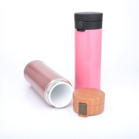 China Portable Ceramic Liner 0.48L Thermos Insulated Cup wholesale