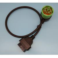 China Right Angle Green Obd2 Pass Through Cable 9 Pin To 16 Pin Serial wholesale