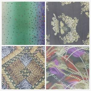 New Arrival Digital Inkjet Printing Silk Crinkle Crepe Fabric