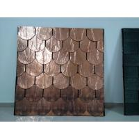China Copper Roofing Shingles , Plane Standard Type Color Roof Shingles wholesale