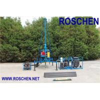 China Mountain Regions Borehole Drilling Machine , Hydraulic Drilling Rig Easy To Assembling wholesale