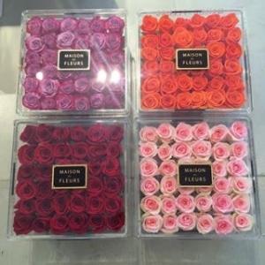 China Beautiful transparent acrylic flower box,custom made display acrylic flower box wholesale
