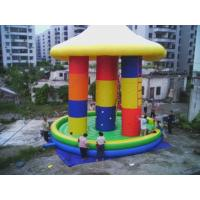 China 3 In1 Inflatable Bungee Tranpoline With Cover For Inflatable Amusement Park wholesale