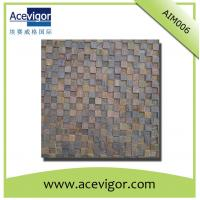 China Wooden mosaic wall tiles with uneven surface and 3D effect for decoration wholesale