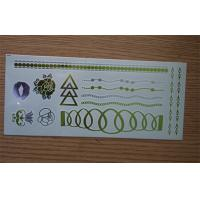 China Hot stamping green and silver Metallic Tattoo Sticker For body art wholesale