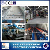China Auto Galvanized Steel Cable Tray Roll Forming Machine PLC System With Touch Screen wholesale
