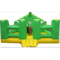 China Amusement Park Inflatable Mechanical Bull With Inflatable Mattress Green House wholesale