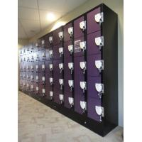 China Purple / Orange School Lockers , Anti UV Aging Coin Collect Lockers 5 Tier wholesale