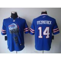 China Nike Buffalo Bills 14 Fitzpatrick blue Helmet Tri-Blend limited jersey www.doamazingbusine wholesale