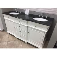 """China 22"""" Wide Black Custom Bathroom Vanity Tops With Sink / Size Customized wholesale"""