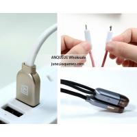 China Remax 1m Colorful 2in1 USB Cable for iPhone, iPad, Micro V8 for Samsung Android Phones Fast Charging Cable wholesale