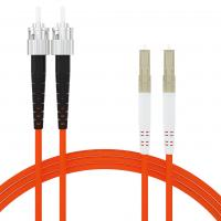 Buy cheap Duplex OM2 Lc To St Fiber Patch Cable For Longer Transmission , High Reliability from wholesalers