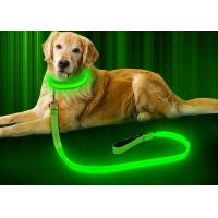 China 47.2 Inch LED Dog Necklace Collar , Glowing Dog Collars Reflective Glow In The Dark wholesale
