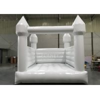 Buy cheap PVC Tarpaulin Inflatable 4 Meters White Wedding Bounce House With Air Blower from wholesalers
